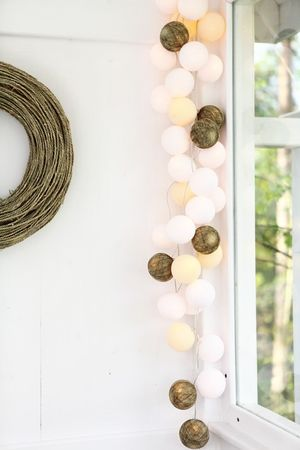 Cotton Ball Lights - by Green Canoe Natural