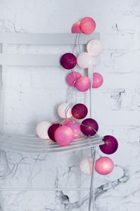 Cotton Ball Lights - Sweet pink