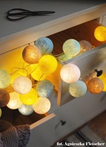 Cotton Ball Lights - by pretty pleasure: Sunny Turquoise