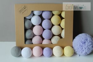 COTTON BALLS LILA PASTEL